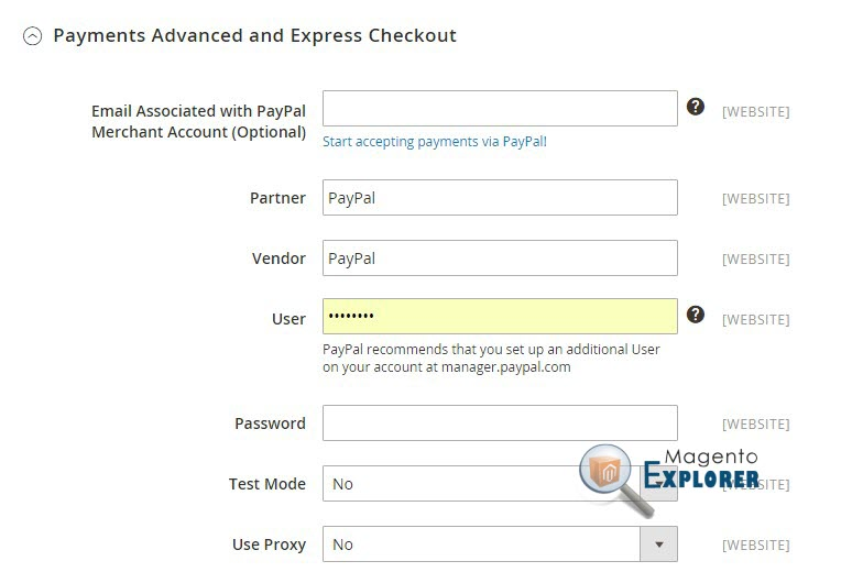 payments advanced and express checkout